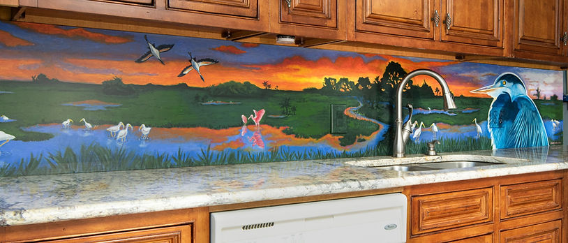 Large scale kitchen mural