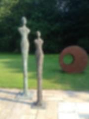 silhouette en bronze de karen
