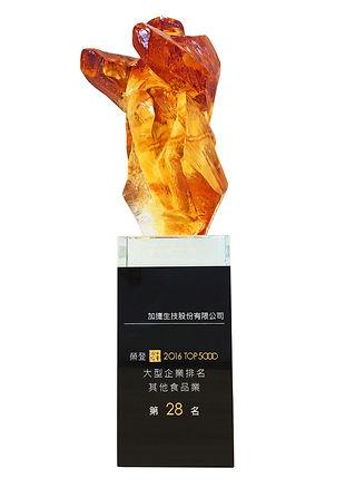台灣地區大型企業其他食品類第28名