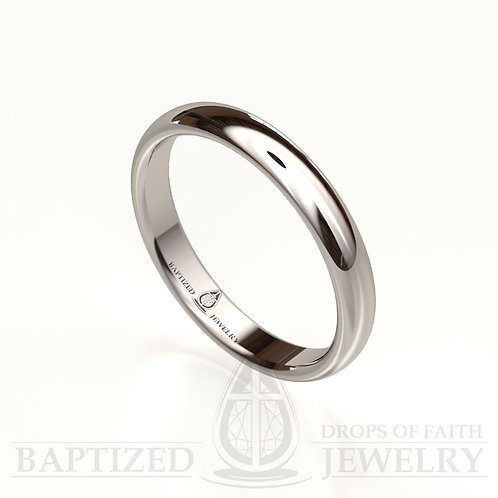 """""""Mary"""" 14K Gold Traditional Wedding Ring"""