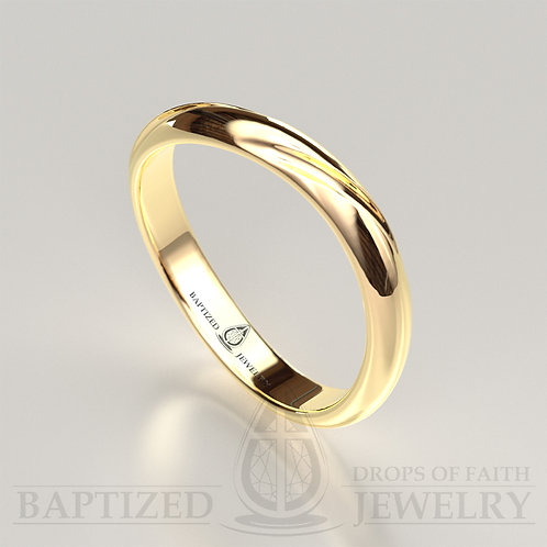 14K Gold Curvy Wedding Ring