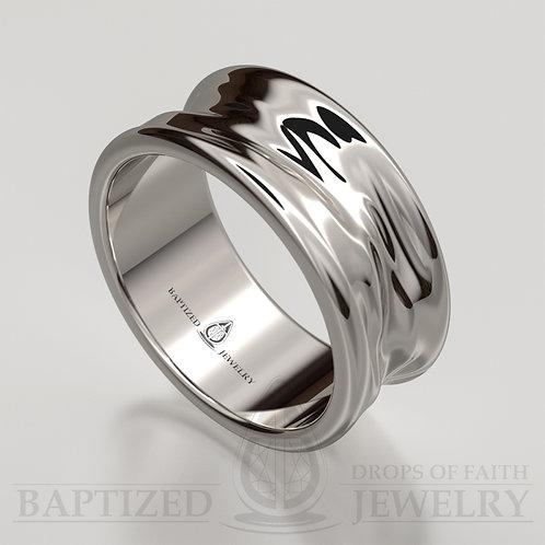 """14K Gold """"Liquid"""" Wedding Ring"""