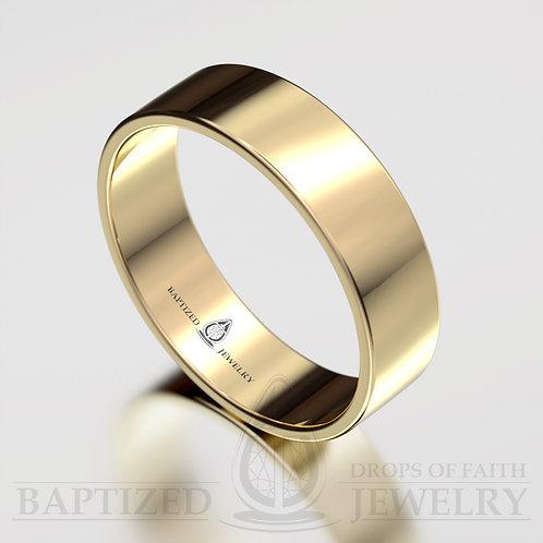 """Joseph"" 14K Gold Wide Wedding Ring"