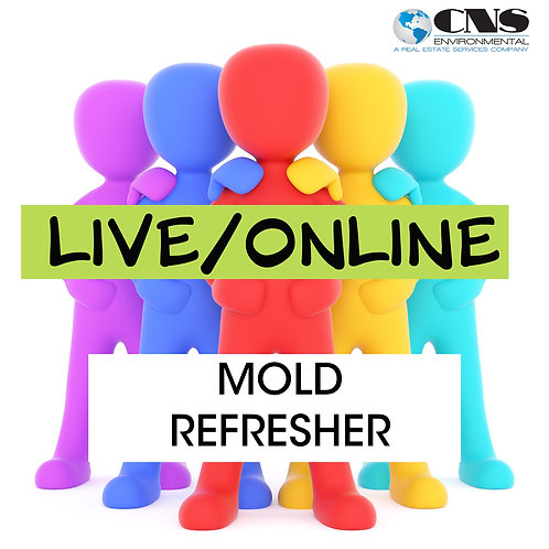 LIVE/ONLINE NYS Mold Refresher