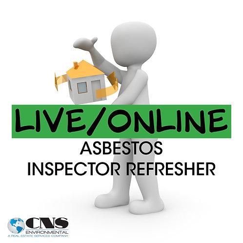 LIVE/ONLINE Asbestos Inspector Refresher