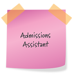 Now Hiring: Admissions Assistant