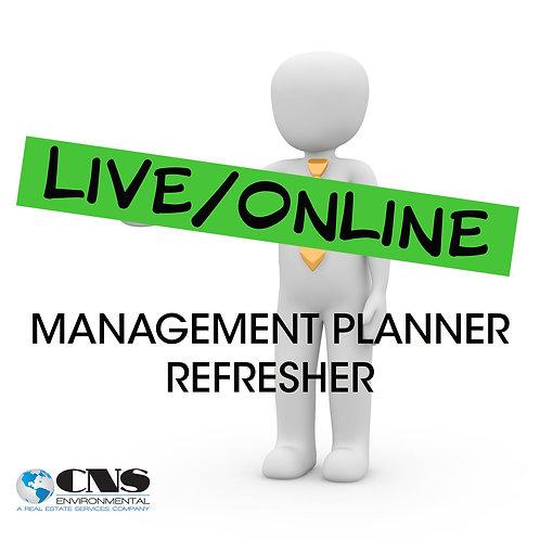 LIVE/ONLINE Asbestos Management Planner Refresher