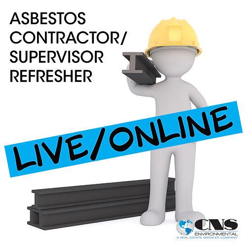 LIVE/ONLINE Asbestos Supervisor Refresher