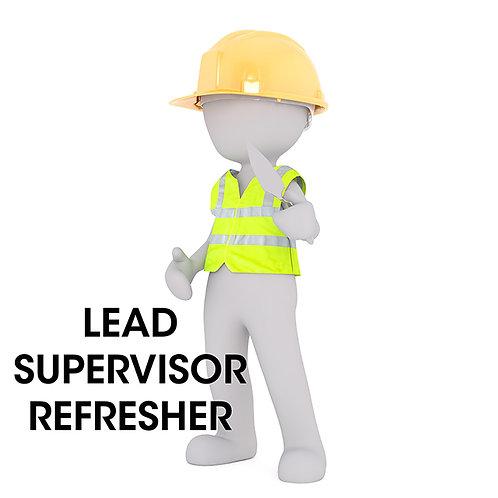 Lead Supervisor Refresher