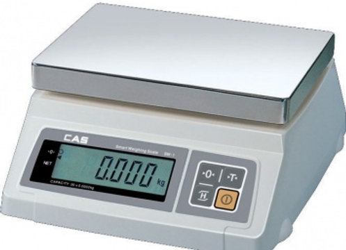 CAS SW-5W Весы порционные влагозащищенные, платформа 239х190, до 5кг, погр. до 2