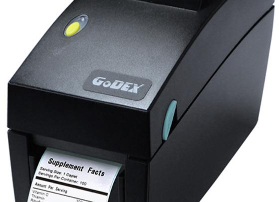 GODEX DT-2x Термопринтер печати этикеток, память 4MB Flash, 8MB SDRAM, до 54мм,