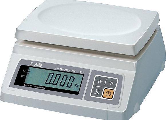 CAS SW-2 Весы порционные автономные, платформа 234x185, до 2кг, погр.до 1гр, дис