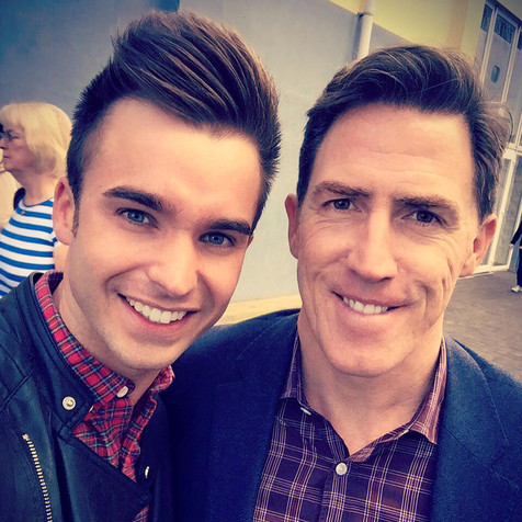ROB BRYDON WITH DEAN STANSBY