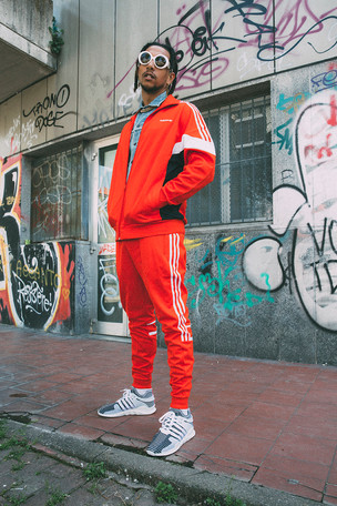 Rapper Laioung x Adidas for NSS Magazine