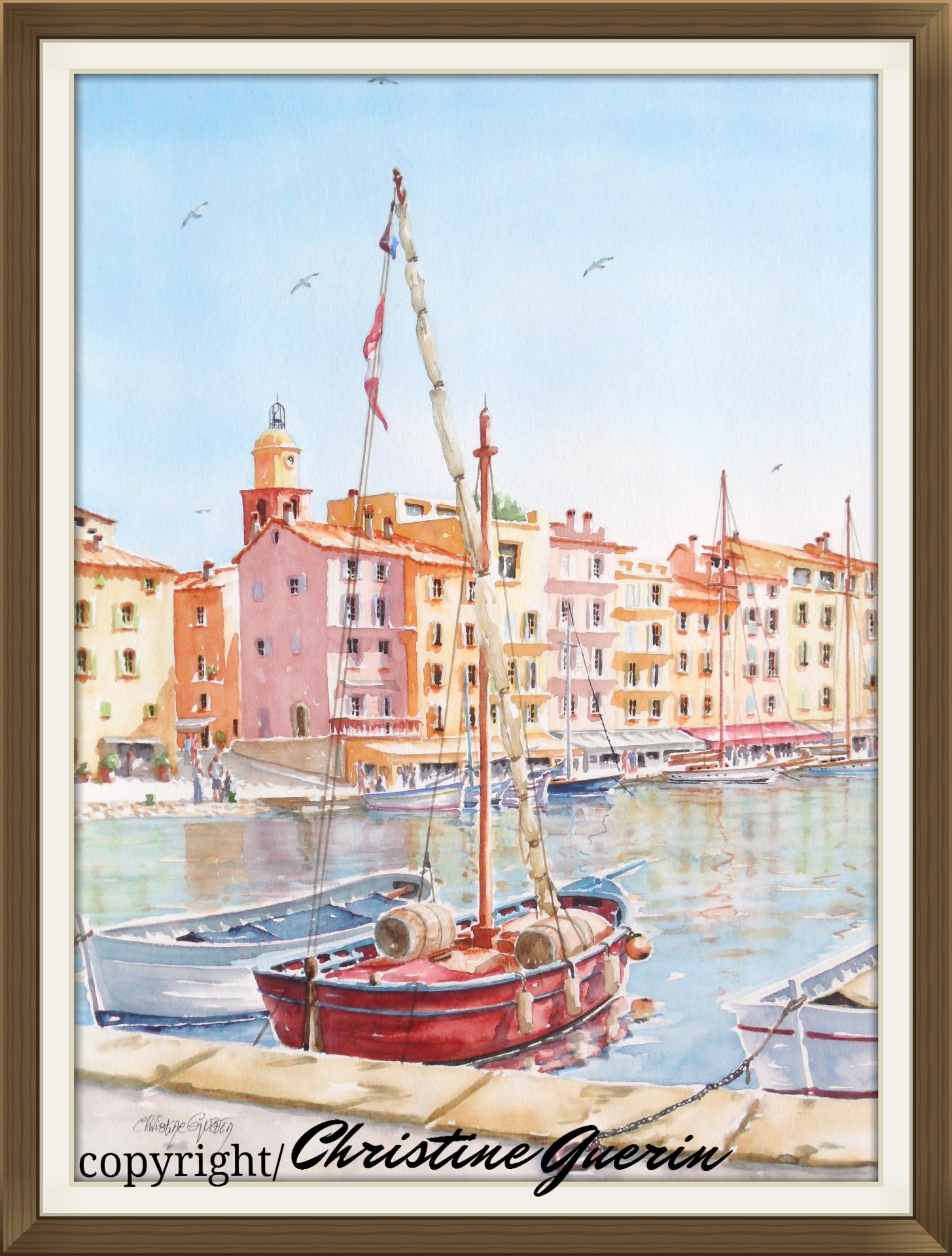 Artiste Peintre St Tropez port de s-tropez | artistikguerin