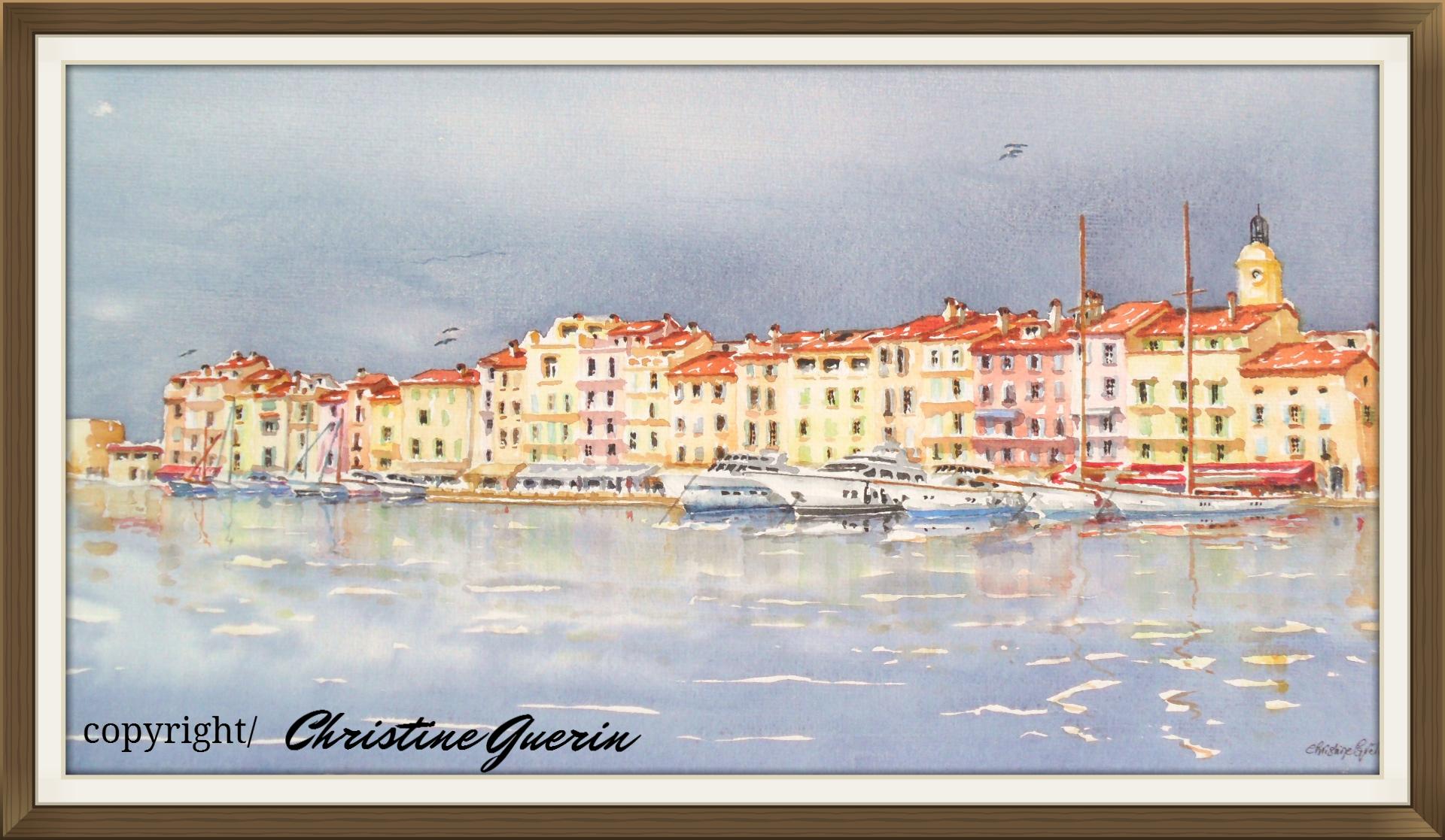 Artiste Peintre St Tropez christine guerin artistikguerin artiste peintre aquarelliste