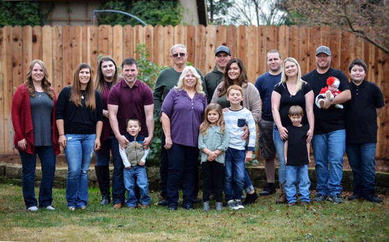 Big Family Session in Client's Backyard
