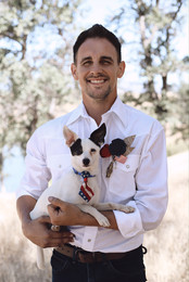 Groom and best pup!