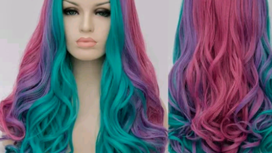 Candy Colored Cosplay Wig