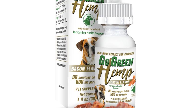 GoGreen Hemp CBD Dog Bacon Canine Tincture 500mg