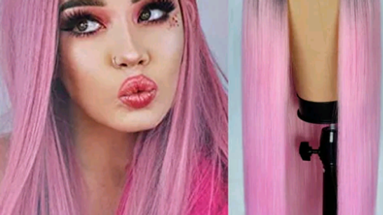 Baby Pink Ombre Cosplay Wig