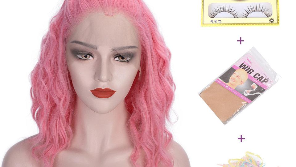 Short Wavy Free Part Lace Wig