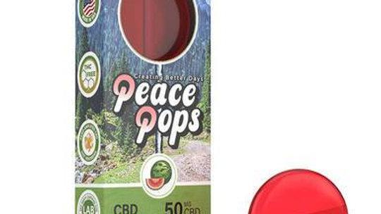 CBD Peace Pops - Mellow Watermelon - 2pc-25mg