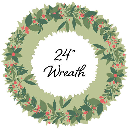 """Adopt a 24"""" Wreath - Placed throughout Town"""