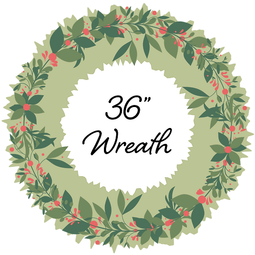 "Adopt a 36"" Wreath - Placed on Bridge Street"