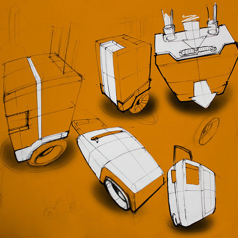 Travel bags concepts sketch