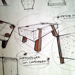 Sketch coffee table