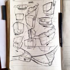 Sketch hip hang bag