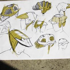Cycle helmet sketch