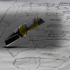 Gerber knife sketch concept
