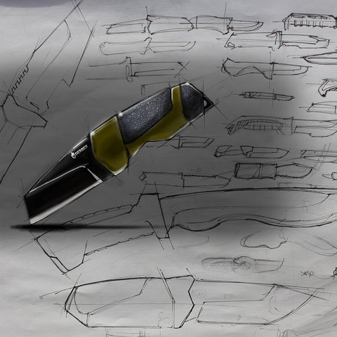 Gerber knife sketch concept