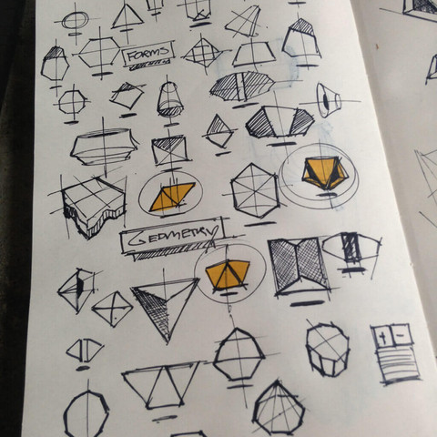 Sketching shapes