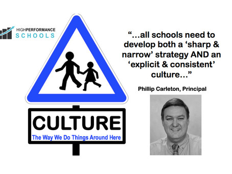 High Performance Schools Have Explicit & Consistent Cultures: Leadership Shares with PhillipCarleton
