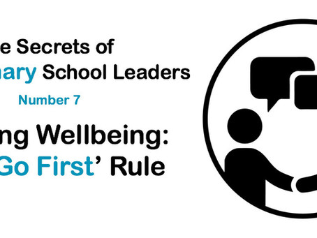Leading Wellbeing: The 'Go First' Rule