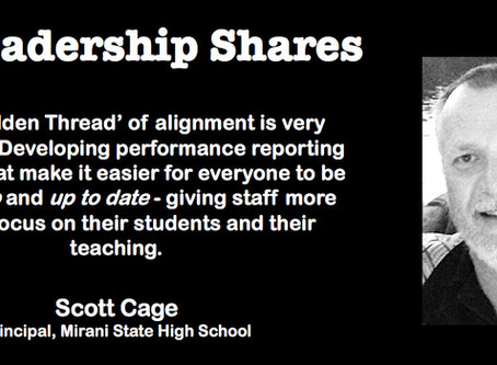 Leadership Shares with Principal, Scott Cage: The Golden Thread in High Performance Schools