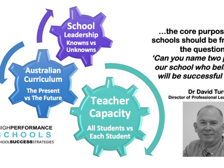 Leading High Performance Schools Into The Future: Leadership Shares with Dr David Turner