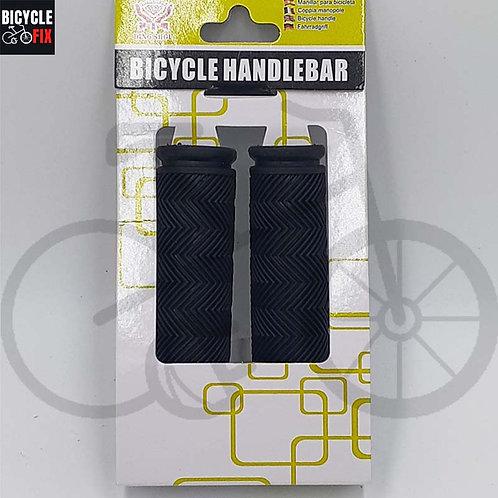 זוג גריפים מגומי איכותי לאופניים צבע שחור - https://www.bicyclefix.net/
