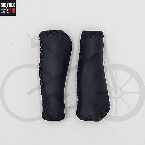 זוג גריפים לאופניים יוקרתיים מעור צבע שחור -  https://www.bicyclefix.net/