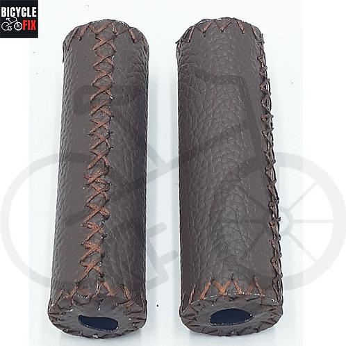 זוג גריפים מעור בצבע חום כהה -  https://www.bicyclefix.net/