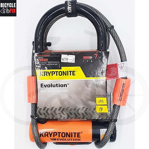 מנעול קריפטונייט | Evolution Mini-7 4' Flex Cable - https://www.bicyclefix.net/