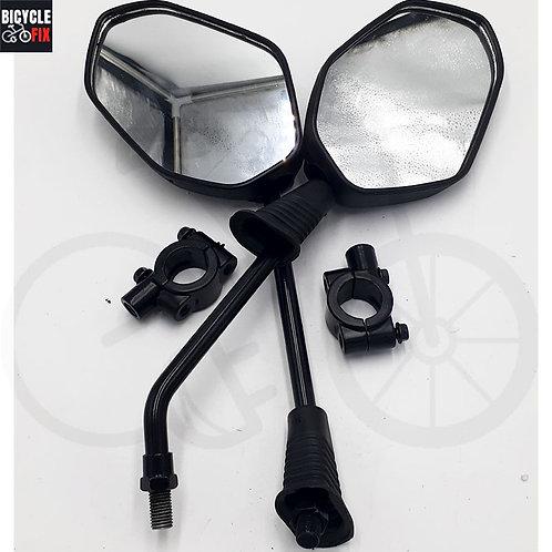 זוג מראות שחורות לאופניים חשמליים - https://www.bicyclefix.net/