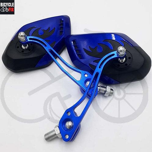 זוג מראות אש בצבע כחול לאופניים -  https://www.bicyclefix.net/