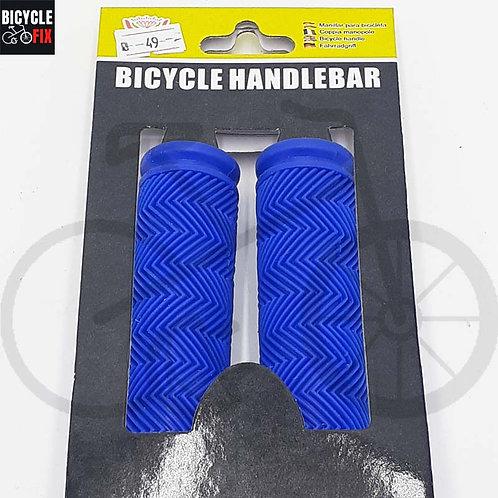 זוג גריפים מגומי איכותי לאופניים צבע כחול -  https://www.bicyclefix.net/