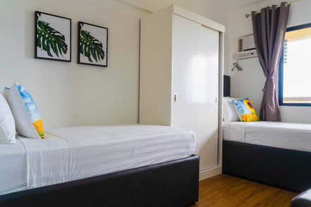 Bedroom 2 with window type aircon
