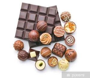 czekoladowe praliny