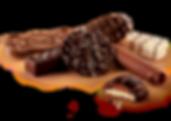 Oblewarka do czekolady batony i ciastka.